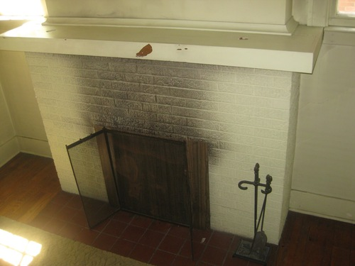 Dirty Fireplace Front