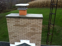 chimney rebuild with crown forms